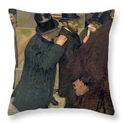 At The Stock Exchange Throw Pillow