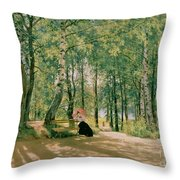 At The Summer Cottage Throw Pillow