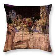 At The Table Throw Pillow