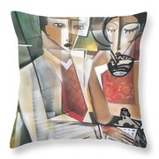 At The Tea Break Throw Pillow