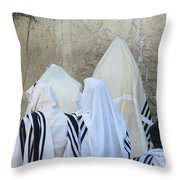 At The Western Wall Throw Pillow