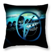 At The Wheel Throw Pillow