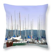 At The Yacht Club Throw Pillow