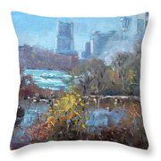 At Three Sisters Island Throw Pillow