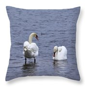 At Your Service. Mute Swan Throw Pillow