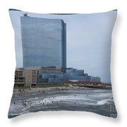 Atalantic America Board Walk And Architecture July 2015 Photography By Navinjoshi At Fineartamerica. Throw Pillow