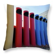A T And T Switching Station, Columbus, Indiana Throw Pillow