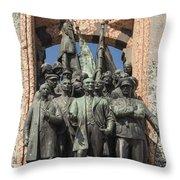 Ataturk Statue Throw Pillow