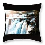 Waterfall Scene For Mia Parker - Sutcliffe L A S Throw Pillow