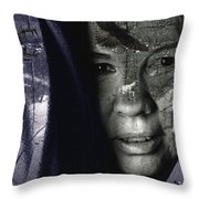 Athabascan Landscape Throw Pillow