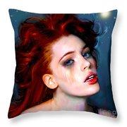 Athena Girl Throw Pillow