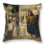 Athenian Bride Throw Pillow