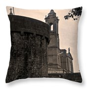 Athlone Castle And Church Throw Pillow