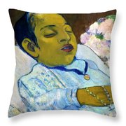 Atiti, By Paul Gauguin, 1892, Kroller-muller Museum, Hoge Veluwe Throw Pillow
