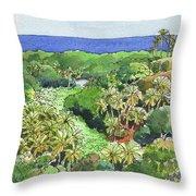 Atiu Lake View Throw Pillow