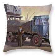 Atkinson At The Docks Throw Pillow