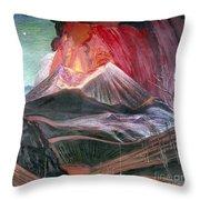 Atl: Volcano, 1943 Throw Pillow