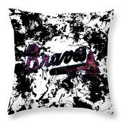 Atlanta Braves 1b Throw Pillow