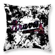 Atlanta Braves 1d Throw Pillow
