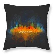 Atlanta City Skyline Uhq V4 Throw Pillow
