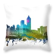 Atlanta Cityscape 01 Throw Pillow