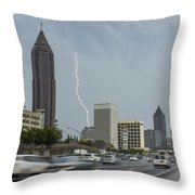 Atlanta Daytime Lightning Throw Pillow