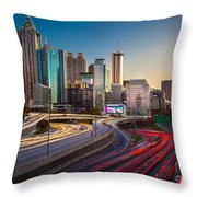 Atlanta Downtown Lights Throw Pillow