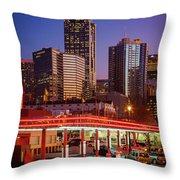 Atlanta Drive-in Throw Pillow