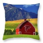 Atlanta Falcons Barn Throw Pillow