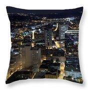 Atlanta Georgia At Night Throw Pillow
