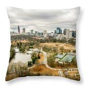 Atlanta Georgia City Skyline Throw Pillow