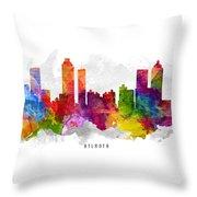 Atlanta Georgia Cityscape 13 Throw Pillow