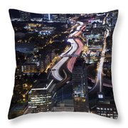 Atlanta Georgia - Evening Commute Throw Pillow