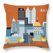 Atlanta Georgia Horizontal Skyline Throw Pillow