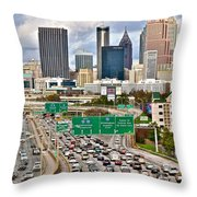 Atlanta Georgia Thrives Throw Pillow