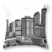 Atlanta Georgia Vector Throw Pillow