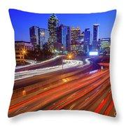 Atlanta Interstate I-85 By Night Throw Pillow