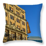 Atlanta Life Sign In Birmingham Alabama Throw Pillow