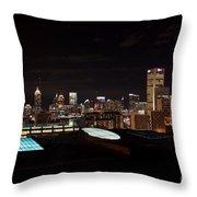 Atlanta Night Skyline Throw Pillow