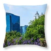 Atlanta Skyline From Atlanta Botanical Garden Throw Pillow