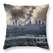 Atlanta Skyline Panoramic Throw Pillow