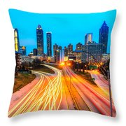 Atlanta - Usa Throw Pillow