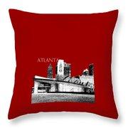 Atlanta World Of Coke Museum - Dark Red Throw Pillow