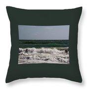 Atlantic - Beach - Waves Throw Pillow