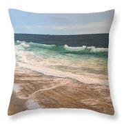 Atlantic Beach Waves Throw Pillow