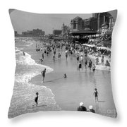 Atlantic City, 1920s Throw Pillow
