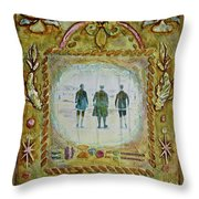 Atlantic City Beach 1920's Throw Pillow