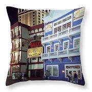 Atlantic City Boardwalk At Night Throw Pillow