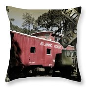 Atlantic Coast  Line Railroad Carriage Throw Pillow