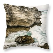 Atlantic Coastline In Bahamas Throw Pillow